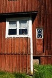 Red wooden Finnish house Royalty Free Stock Photography