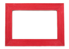 Red wooden frame Stock Image