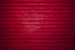 Red wooden freight door Royalty Free Stock Images