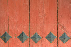 Red wooden gate Royalty Free Stock Photo