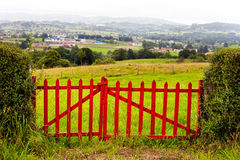 Red Wooden Gate Royalty Free Stock Photography