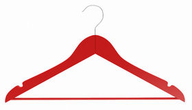 Red wooden hanger Royalty Free Stock Image