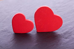 Red wooden hearts Royalty Free Stock Image