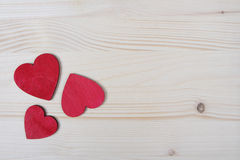 Red wooden hearts Stock Image