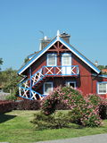 Red wooden home, Lithuania Stock Images