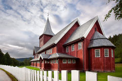 Red wooden house Stock Image
