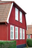 Red wooden house Stock Photography