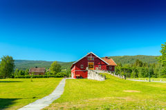 Red wooden house Royalty Free Stock Photography