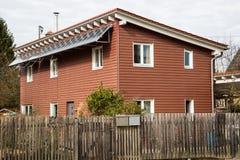 Red wooden house , sweden stil Stock Photos