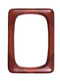 Red wooden photoframe Stock Images