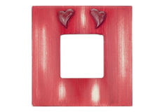 Red wooden picture frame Stock Photography