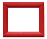 Red Wooden Picture Frame Stock Image