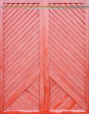 Red wooden plank door Stock Images