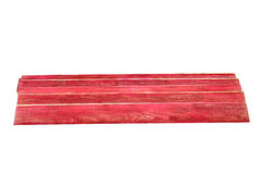 Red wooden planks Stock Photo