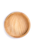 Red wooden plate Stock Photography