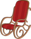 Red wooden rocking chair Royalty Free Stock Image