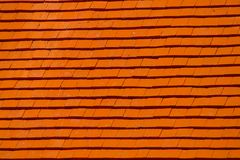 Red wooden roof Stock Images