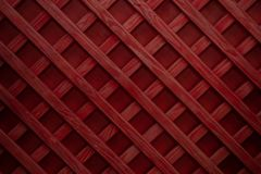 Red wooden seamless planks panoramic texture background. Wooden lattice or grid royalty free stock image