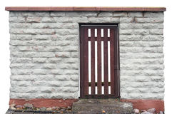 Red wooden secret door Royalty Free Stock Photos