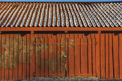 Red wooden shed Royalty Free Stock Image