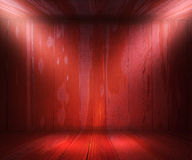 Red Wooden Spotlight Room Royalty Free Stock Photo