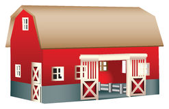 Red wooden toy barn Royalty Free Stock Photos