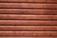 Red wooden trunk wall Stock Photography