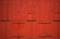 Red wooden wall Stock Images