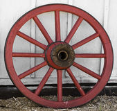 Red wooden wheel Royalty Free Stock Photos