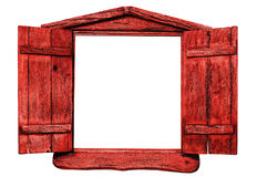 Free Red Wooden Window Royalty Free Stock Image - 98911786