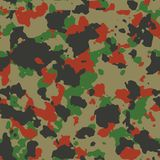 Red woodland seamless camo. Pattern Stock Image