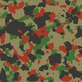 Red woodland seamless camo Stock Image