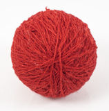 Red wool ball Royalty Free Stock Image