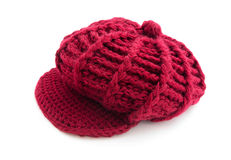 Red wool cap Stock Photography