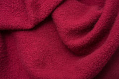 Red Wool Cloth Swatch Stock Image