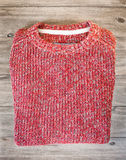 Red wool jumper Royalty Free Stock Photography