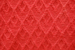 Red wool pattern Royalty Free Stock Photos