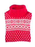 Red Wool Sweater. Isolated on white Royalty Free Stock Images