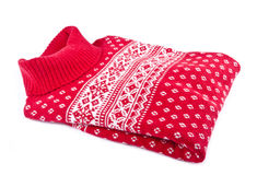 Red Wool Sweater Stock Images
