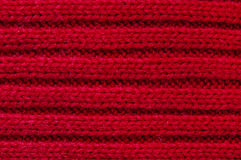Red Wool. Texture Background Close-up Royalty Free Stock Photo