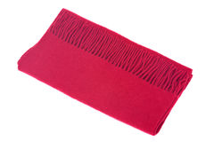 Red wool warm scarf Royalty Free Stock Photos