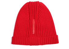 Red woolen cap Stock Image