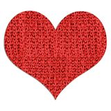 Red woolen heart Stock Image