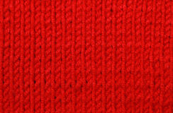 Red woolen texture Royalty Free Stock Photography