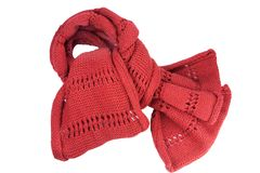 Red woolly scarf Royalty Free Stock Image