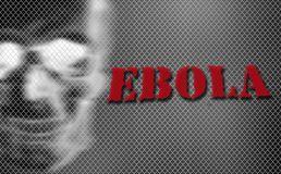 Red word EBOLA on black and white background Royalty Free Stock Image