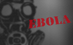 Red word EBOLA on black and white background Stock Photo