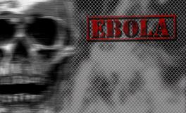 Red word EBOLA on black and white background. Stock Images