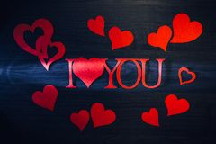 Words i love you with stock photography