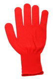 Red work glove Stock Images